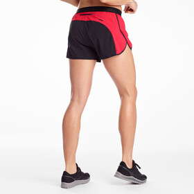 "saucony Split Second 2,5"" Pantalones Cortos Mujer, black/saucony red"